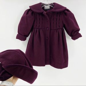 ROTHSCHILD Wool Coat Pleated & Hat 2T